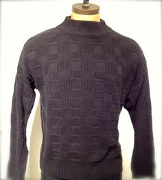 Flash sale runs theough 11/26 so shop now!  Vintage MENS Pierre Cardin mock neck sweater by pandaJpanda, $28.00