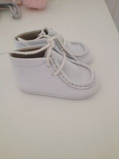 New Baby Boys Andanines Spanish White Leather Shoes