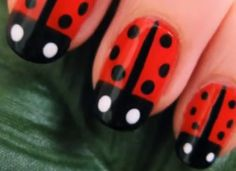Feel lucky with lady bug nail art on your nails this summer! Visit a Duane Reade around the corner to get all the nail care you need to recreate the look! Love Nails, How To Do Nails, Pretty Nails, Fun Nails, Cute Nail Polish, Nail Polish Designs, Nail Designs, Ladybug Nail Art, Fabulous Nails