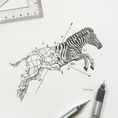Geometric Beasts | Zebra by kerbyrosanes