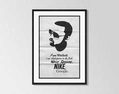 KANYE WEST Inspired Minimalist Music Poster Print by GreaterGeek