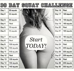 Challenge yourself to get fit. Start today with the 30 Day Squat Challenge and the 30 Day Crunch Challenge. 30 Day Squat Challenge, Workout Challenge, Challenge Accepted, Crunch Challenge, November Challenge, Monthly Challenge, October 2013, Motivation Crossfit, Motivation Quotes
