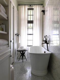 Long narrow bathroom remodel ideas view full size long and narrow bathroom design small narrow bathroom . Laundry In Bathroom, White Bathroom, Modern Bathroom, Master Bathroom, French Bathroom, Classic Bathroom, Basement Bathroom, Bathroom Curtains, Bathroom Cabinets
