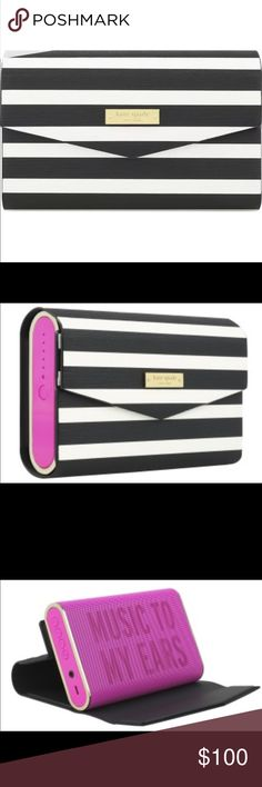 Kate Spade Bluetooth Speaker Pink w/ outside case Listen to music in style very loud and stylish Bluetooth speaker kate spade Other