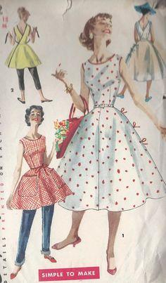 Vintage 1950's Misses Wrap Around Dress by CottageLaneTreasures, $14.00