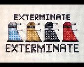 Dalek cross-stitch