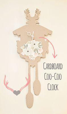 Cardboard Coo Coo Clock -