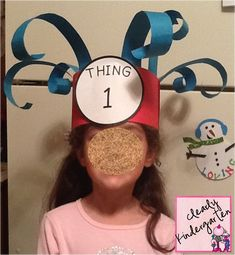 Thing hats for Dr. Seuss' birthday. @Sarah Chintomby Baker-Dykes @Kara Morehouse Horras @Terry Song Haynes-Toney or this one.