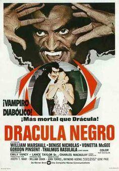 Drácula Negro (1972) Español/BSO Horror Movie Posters, Horror Films, Film Posters, Dracula, Count Dracula, Los Angeles, Soundtrack, Vampires, Horror Movies
