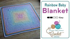 Crochet Rainbow Baby Blanket Introducing the Rainbow Baby Blanket, a design by me, just for you. Using one of my