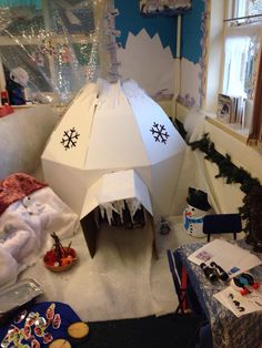 Ellie Louise's igloo she shared on my Facebook page.