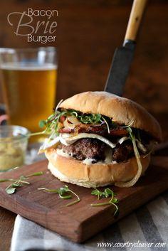 Bacon Brie Burger FoodBlogs.com