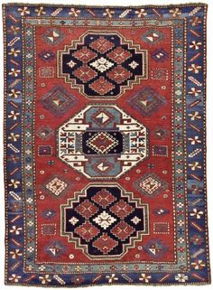 Caucasian Kazak Azerbaijan  rug, circa 1880