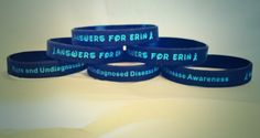 "New bracelets say ""Rare and Undiagnosed Disease Awareness"""