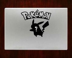 Whos that pokemon? Pikachu Macbook Pro / Air 13 Decal Stickers