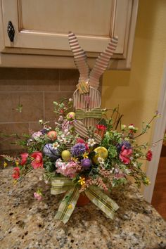 Easter Bunny Arrangement by kristenscreations on Etsy