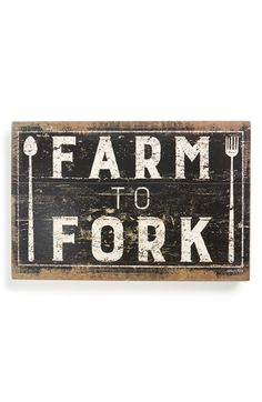 Primitives by Kathy 'Farm to Fork' Sign available at #Nordstrom