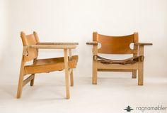 Sehr seltene easy chairs von Børge Mogensen for fredericka stolefabrik. Modell:SPANISH CHAIR 2226 Danish Design