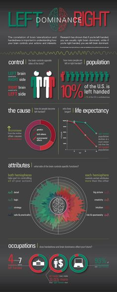 Left and Right Brain Dominance Infographic on Behance