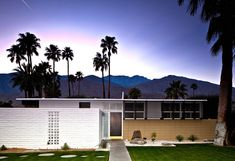 Twin Palms by Chimay Bleue, Architect: William Krisel for Palmer & Krisel (1957)  Location: Palm Springs, CA. Mid-Century Modern.