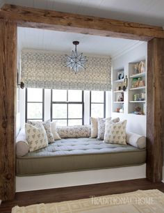 Captivating Frame A Cozy Bay Window Nook With Dark Rustic Wood, Like CLOTH U0026 KIND Does  Here, To Add A Rustic Touch To Modern, Neutral Toned Interiors.