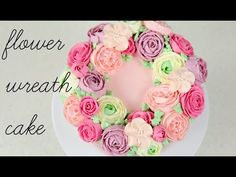 Buttercream Flower Wreath Cake Tutorial - CAKE STYLE - YouTube