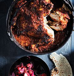Tomato Vindaloo Potjie with Spatchcock Chicken & Radish Pickle Spatchcock Chicken, Cocktails For Parties, Pickled Radishes, Vindaloo, Dutch Oven Cooking, Meat Lovers, Grilling Recipes, Indian Food Recipes, Food Inspiration