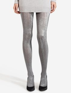 Liquid Metal Tights | Women's Accessories | THE LIMITED