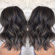 Brown Hair Balayage, Hair Highlights, Ombre Hair, Color Highlights, Hair Color And Cut, Brown Hair Colors, Hair Color Asian, Medium Hair Styles, Curly Hair Styles