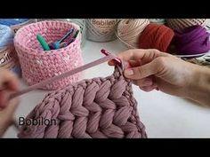 Вязание пышных столбиков (принцип вязания) - YouTube