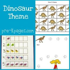 Free Dinosaur Printables from Pre-K Pages