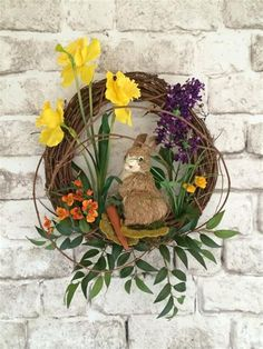 40 Beautiful DIY Spring Wreath Ideas You Will Love 55