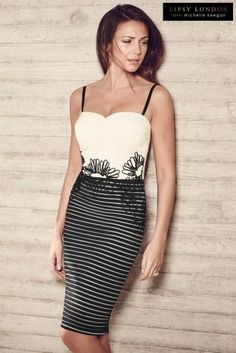 c8fa93539514 Buy Michelle Keegan Stripe Embroidered Cami Dress online today at Next   United States of America