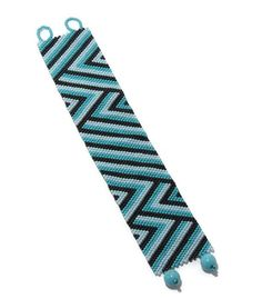 Turquoise Chevron bracelet pattern $5.00 at etsy.com/shop/cinfulbeadpatterns