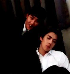 EXO-Love Concert in Dome 151010 : VCR - D.O. when Sehun was sleeping (1/2)