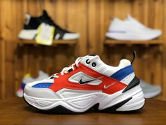 Nike M2K Tekno Red White Blue Retro Daddy Shoes Casual Sports Running Shoes Show Fashionable Wild New AO3108 101