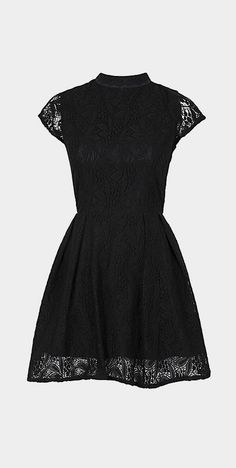 Look at this Black Lace Nichole Mock Neck Dress by Louche Pretty Dresses, Beautiful Dresses, Gorgeous Dress, Mode Style, Dress Me Up, Get Dressed, Dress Skirt, Lace Dress, Passion For Fashion