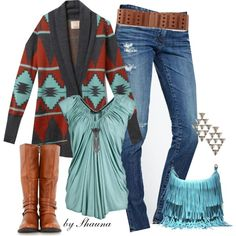 """""""Tribal Cardigan"""" by shauna-rogers on Polyvore"""