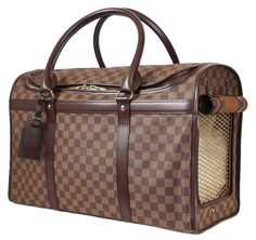 Louis Vuitton Damier Special Order Dog Carrier 50 Super Rare Brown Travel Bag. Save 26% on the Louis Vuitton Damier Special Order Dog Carrier 50 Super Rare Brown Travel Bag! This travel bag is a top 10 member favorite on Tradesy. See how much you can save