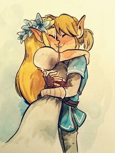 Link x Zelda Link Zelda, Link Botw, Botw Zelda, Legend Of Zelda Breath, Couple Drawings, Twilight Princess, Breath Of The Wild, Video Game Art, Skyrim