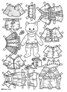 coloring paper dolls - Google Search