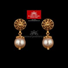 Unusual Wedding Rings for Women Gold Jhumka Earrings, Buy Earrings, Jewelry Design Earrings, Gold Earrings Designs, Gold Jewellery, Earrings Online, Bridal Jewellery, Jewellery Designs, Pearl Earrings