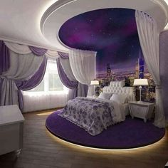 41 Greatest of Purple Bedroom Design Ideas - Bong Pret Your bedroom is your very private portion of your whole property. Nonetheless, despite your. A bedroom has to be a relaxing hideaway, therefore it i. Purple Bedroom Design, Fancy Bedroom, Purple Bedrooms, Luxury Bedroom Design, Girl Bedroom Designs, Interior Design, Bedroom Black, Bedroom Neutral, Bedroom Ideas Purple