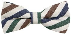Mens Cotton Colored Stripe Bow Ties for Adult and Young Man (100% Cotton)
