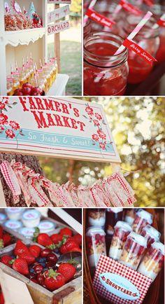 farmer's market party {lulu's party designs via shop sweet lulu}