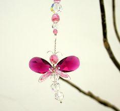 Mothers Day Gift Dragonfly Suncatcher Swarovski by bytheartisan