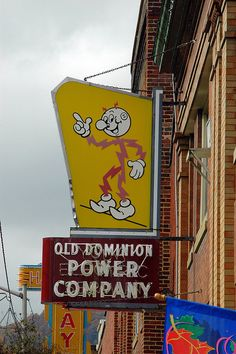 Old Dominion Power Company - Reddy Kilowatt Sign by Radio Rover