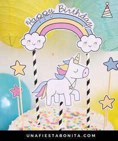Ultimate Paquete De Unicornio Empavesado Bandera y 10 Unicornio Feliz Cumpleaños Globos