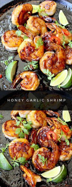 Honey Garlic Shrimp | CiaoFlorentina.com @CiaoFlorentina