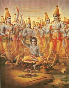 LORD KRSNA BEWILDERS BRAHMA After killing Aghasura, Krsna took the cowherd boys to the forest for a picnic